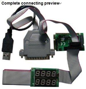 Computer Mainboard POST Diagnostic Card 8 Bits with MiniPCI E MiniPCI LPC LPT Bus for Laptop