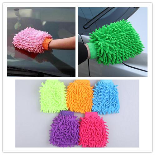 Double Sided Mitt Microfiber Car Wash Washing, Car Dust Washing Cleaning Glove(China (Mainland))