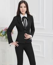 Plus Size 4XL Formal Ladies Pant Suits Women Business Suits Blazer and Jackets Sets Work Wear Trousers Sets Uniform Styles