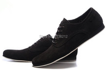 Arrylinfashion Blue/Black Men Casual Flats lace up round toe Fashion solid color Shoes Brand suede Shoes male wholesale(China (Mainland))