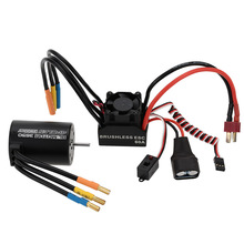 New 3650 3900KV 4P Sensorless Brushless Motor & 60A Brushless ESC Splash-Proof with 5.8V/3A Switch Mode BEC for 1/10 RC Car(China (Mainland))
