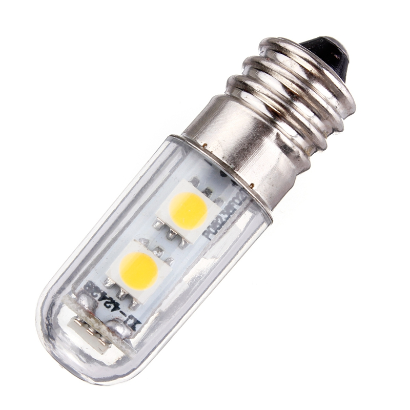 Lowest price e14 1w 5050 smd 7 led white warm white corn lights bed fridge candle lamp spotlight Led light bulb cost