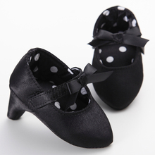 0-18M Newborn Baby Girl Shoes First Walkers Lovely Black Low Heeled Satin Butterfly Knot Infant Kids Girls Shoes Infantil Menina(China (Mainland))