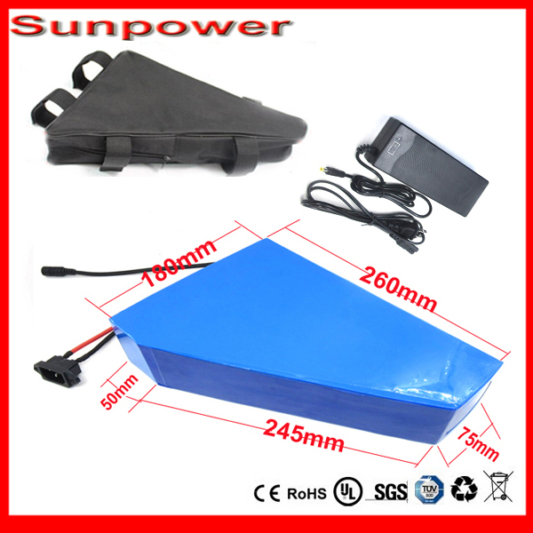 Triangle style Electric bicycle battery 36V 30Amps Lithium battery 36V 430Ah for 36v1000w MTB bike conversion For Samsung Cell(China (Mainland))
