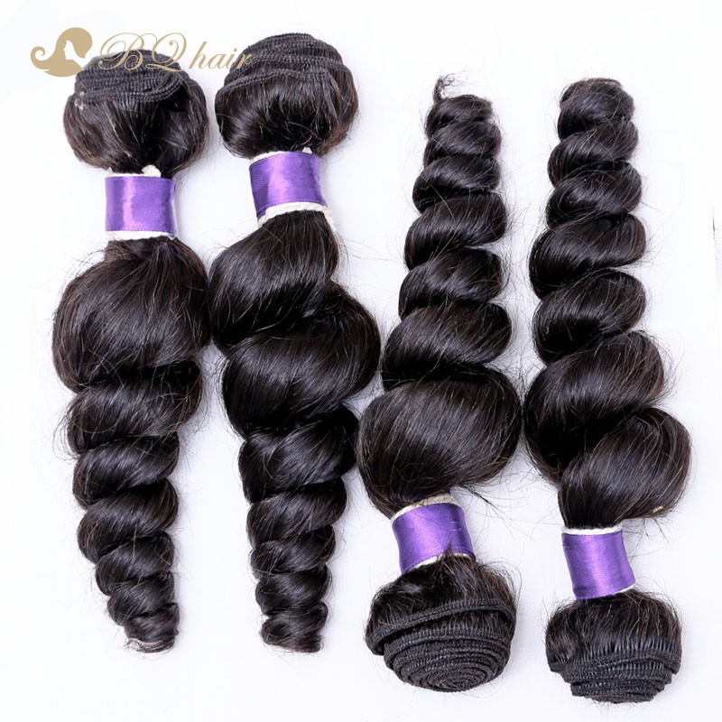 Lace Closure With 4 Bundles Loose Wave Hair 8A Unprocessed High Quality Human Hair Weave Cheap Peruvian Virgin Hair With Closure