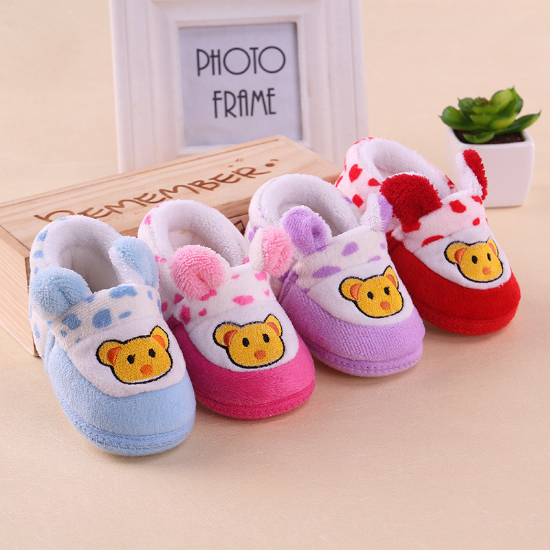 2015 New Winter Baby Boys Shoes Unisex Infant Toddler Soft Sole Baby Girls Cotton First Walkers Shoes Bear Kids Prewalker<br><br>Aliexpress
