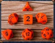 7 pces conjunto de dados digitais d4, d6, d8, d10, d10 %, d12, d20 dungeons dragões acessórios de dados acrílicos poliédricos para o jogo de tabuleiro, dnd, rpg gyh(China)