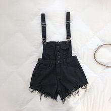 Новый летний комбинезон женский джинсовый комбинезон большого размера короткие комбинезоны для женщин хлопковые комбинезоны Женская одеж...(China)
