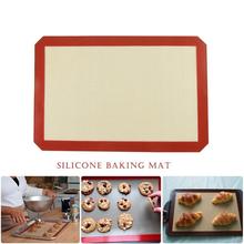 1 unids gran tamaño 42 * 29.6 cm herramientas de la hornada antiadherente estera para hornear de silicona para la torta de la galleta Macaron antiadherente para hornear Liner(China (Mainland))
