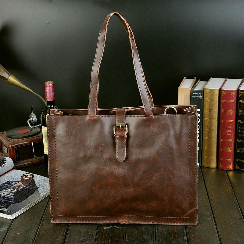 2015 New High quality PU leather Men's Briefcase men messenger bag man leather vintage men bags shoulder bag Business travel bag(China (Mainland))