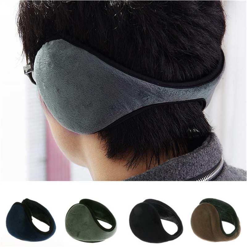 Black Fleece Earmuff Winter Ear Muff Wrap Band Warmer Grip Earlap Gift Men(China (Mainland))