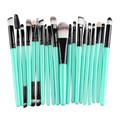 20 pcs Rose gold Makeup brushes set professional eyebrow Blush foundation hair brush pen Eyeshadow oval