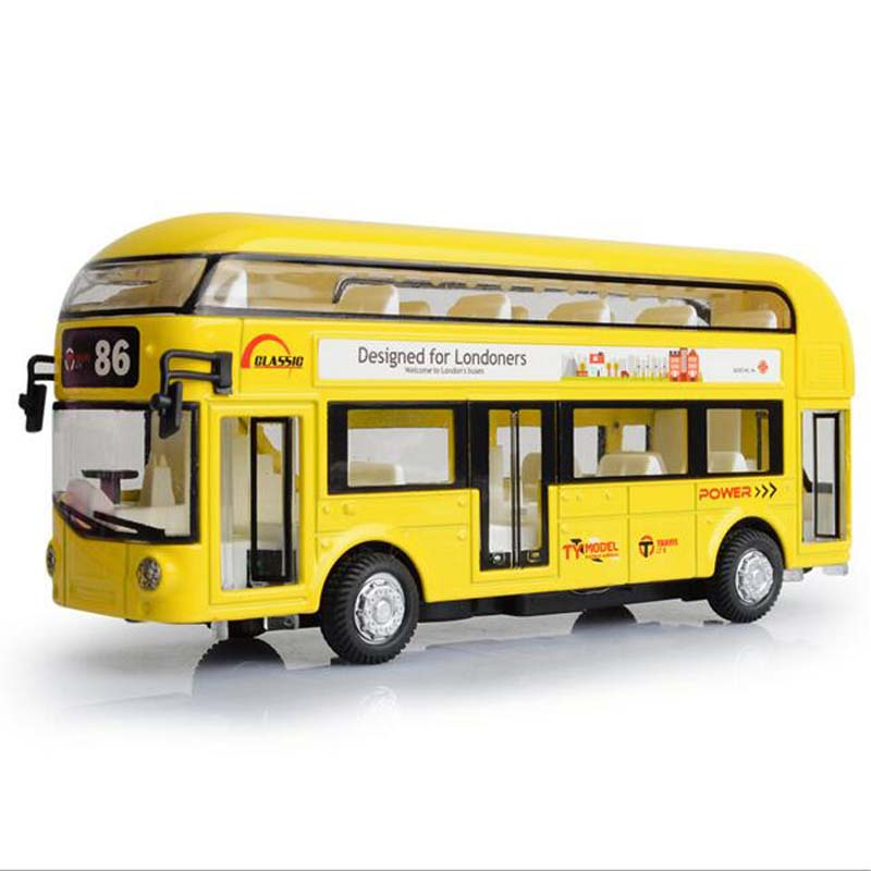1 Piece Collectible Alloy Simulation 1:50 Bus Car Models Children Toys Pull Back Auto Model Diecasts & Toy Vehicles Best Gifts(China (Mainland))