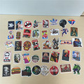40 pcs Bag Non Repeated Mixed Brands Skateboard Stickers Offset Print Matte Film Skate Stickers Travel