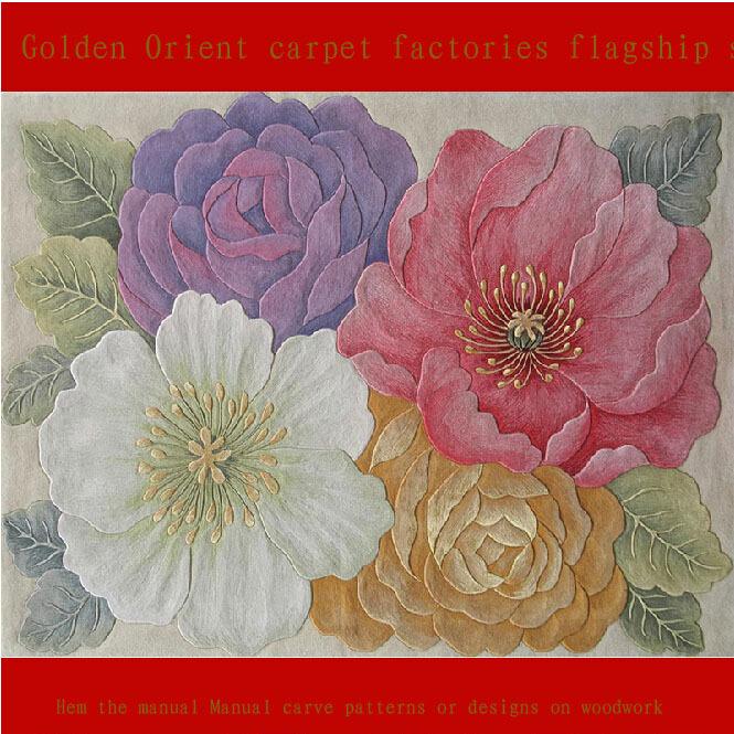1.4m*2mManual wool carpet New Zealand wool carpet Thickening washed wool carpet to booking032