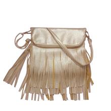 2016 New Golden Tassel Women Fringe Bag Women Messenger Bags Upscale Lining Shoulder Bags Comfortable Envelope Crossbody Handbag