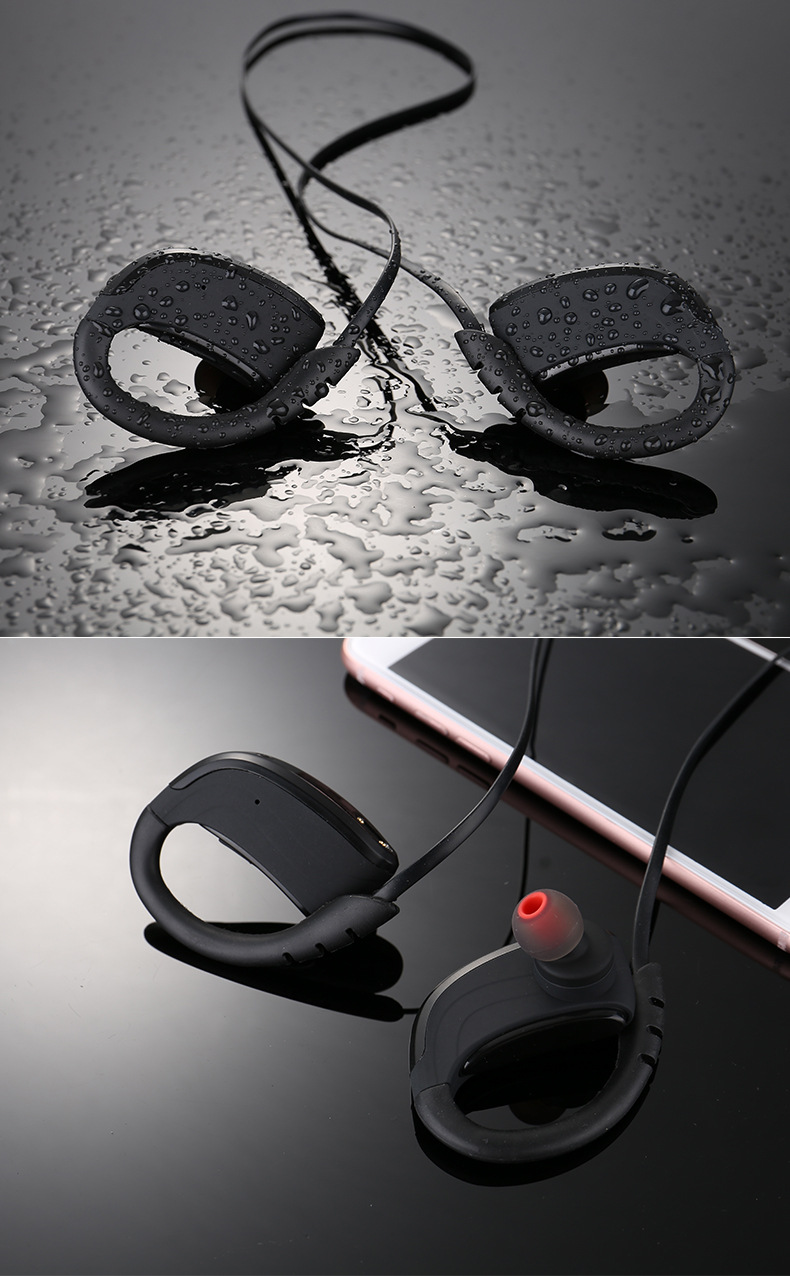 SANGER Headphones Bluetooth 4.1 IPX7 Waterproof Noise Reduction Headset NFC Wireless Earphones Microphone Sport Stereo Earphone