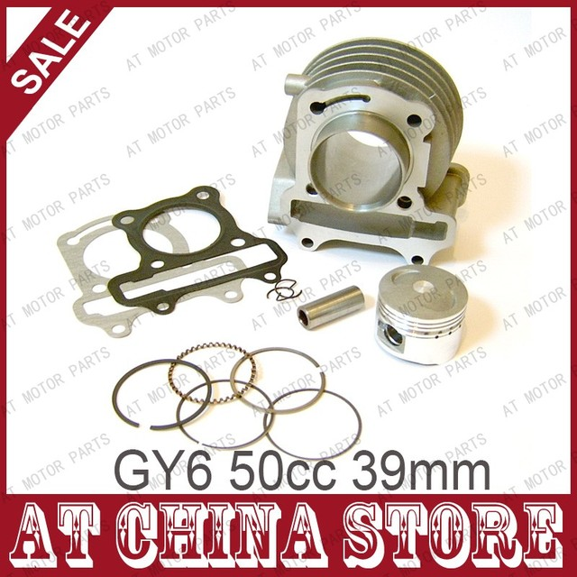 GY6 49cc 50cc Chinese Scooter engine 39mm cylinder kit with piston kit for 4T 139QMB 139QMA JONWAY JMSTAR ZNEN Roketa JCL Moped