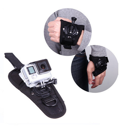 For Gopro Accessories 360-degree Rotation Glove Wrist Hand Strap Band For Waterproof Case For Go Pro Hero4 3+ 2 3 SJ4000 SJ5000