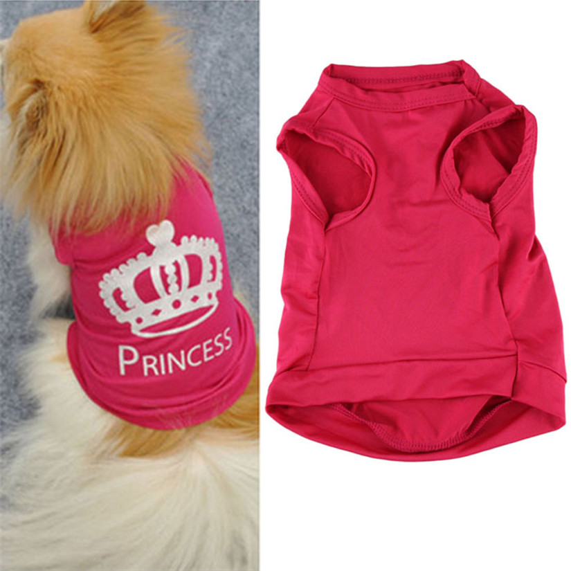 New Qualified Pet Fashion Pet Dog Cat Cute Princess T-shirt Clothes Vest Summer Coat Puggy Costume dig6426(China (Mainland))