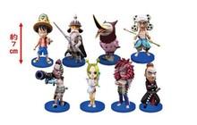 Cute 3″ One Piece Anime Skypiea Arc the 53th Solid set Figures PVC Action Figure Model Toy Gift (8pcs per set) opp bag