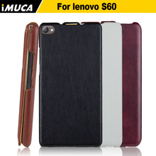 for Lenovo S60 case 100% original leather case for Lenovo S60 S60-t Vertical Flip Cover Mobile Phone Bags Cases Accessories(China (Mainland))