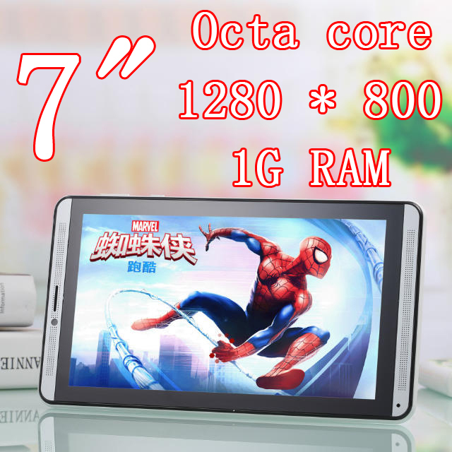 Octa Core 7 inch 8 cores Tablet Pc phone mobile 3G dual Sim Card Slot Camera