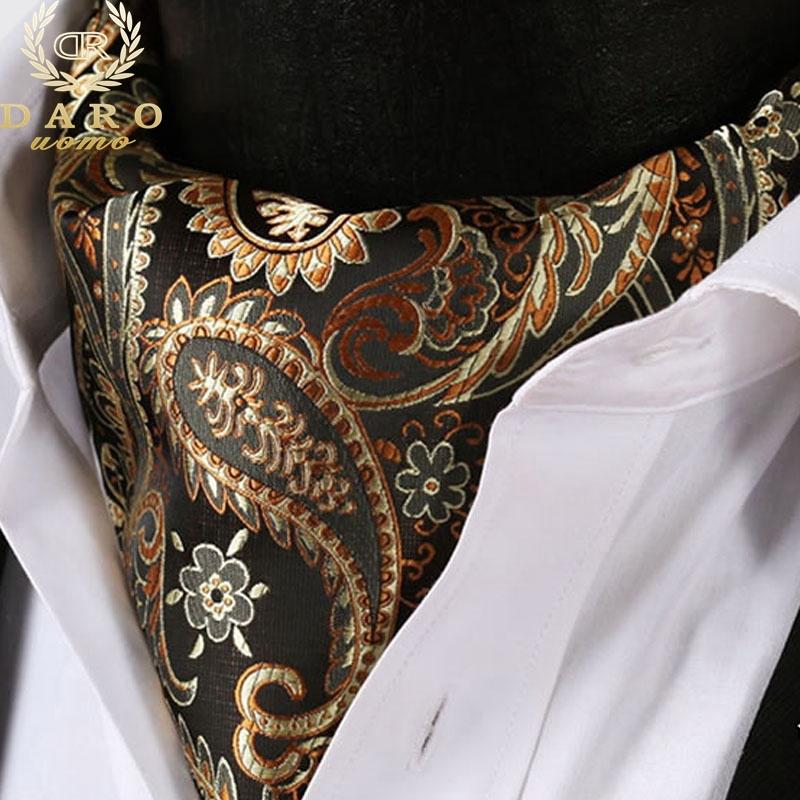 Paisley Floral Printed Cravat Handerchief Set Casual Jacquard Woven Ascot Ties Neckerchief Men's Suits Business Party--2 - DAROuomo official store