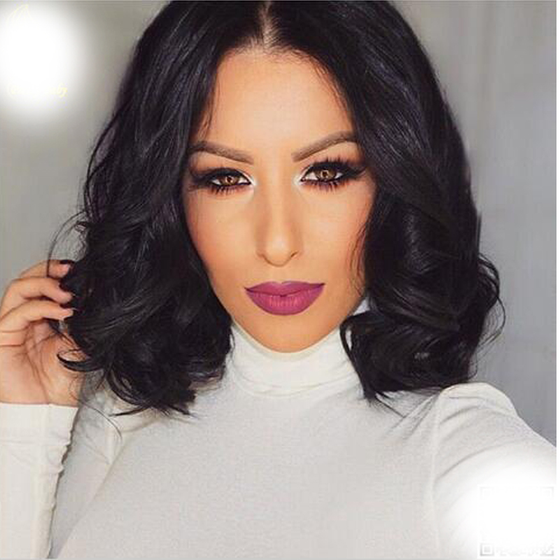 8''-26'' Natural wave Brazilian virgin hair lace front wigs short bob human hair full lace human hair wigs for black women
