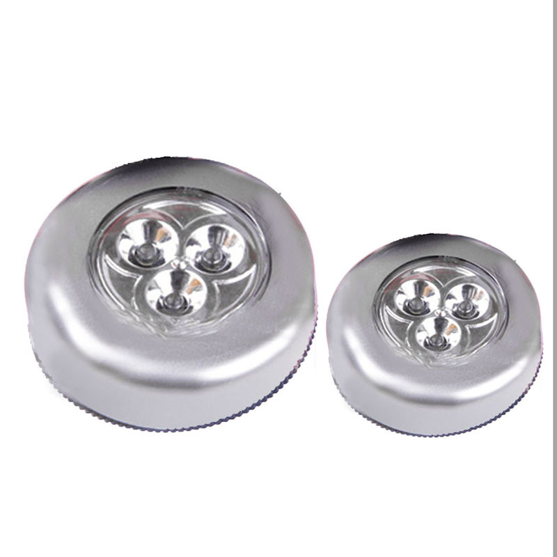 New Qualified 3 LED Wall Light Kitchen Cabinet Closet Lighting Sticker Tap Touch Lamp Lamps  Levert Dropship dig671