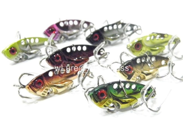 8 Fishing Lures Blade Lures with Free Tackle Box Fresh Water Shallow Water Bass Walleye Crappie Minnow Fishing Tackle BL3KB