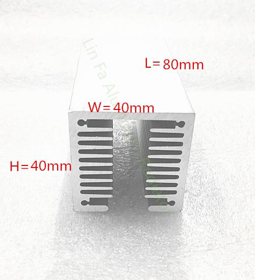 2pcs Fan heat sink/Cooling heat sink 40*40-80mm/cpu heat sink/aluminum heat sink<br><br>Aliexpress