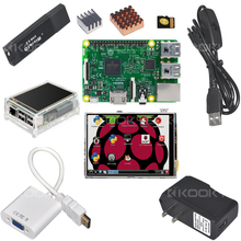 Raspberry Pi3 Model B Board + 3.5 TFT LCD Touch Screen + Case +8 G TF Card + Heat Sink +5V 2.5A Power Supply For Raspberry  Pi 3(China (Mainland))