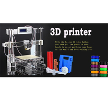 XP WIN 7 size 210*210*240mm High Quality Precision Reprap Prusa i3 DIY 3d Printer kit with 2 Roll Filament 8GB SD card and LCD