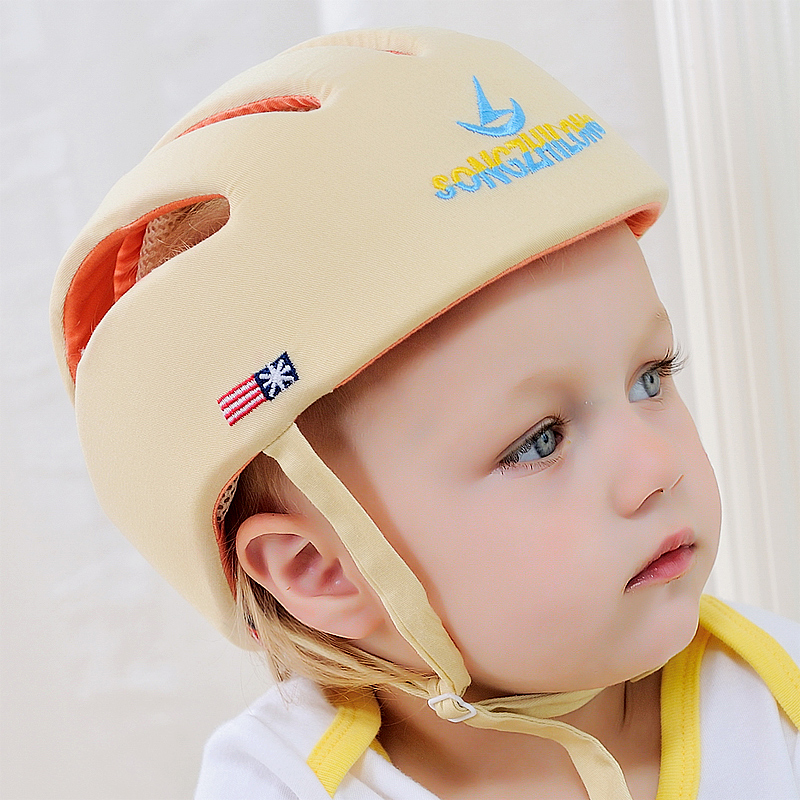 Free Shipping!2015 Baby Safety Helmet Toddler Cap Baby Anti- Shock Hat Infant Protective Hat For Learning Walk & Size Adjustable(China (Mainland))