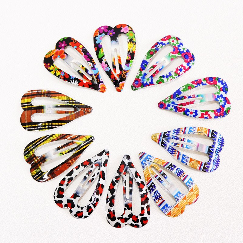 1Pack(10/12PCS)Print Geometric Hair Clips Barrettes Girls Cute Hairpins Colorful Headbands For Kids Hairgrips Hair Accessories