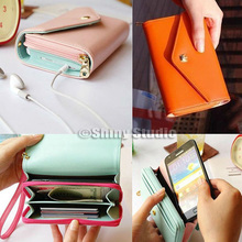 Multifunction Women Wallets Leather Handbag Coin Case Purse For Blackberry 9650 Phone Bag(China (Mainland))
