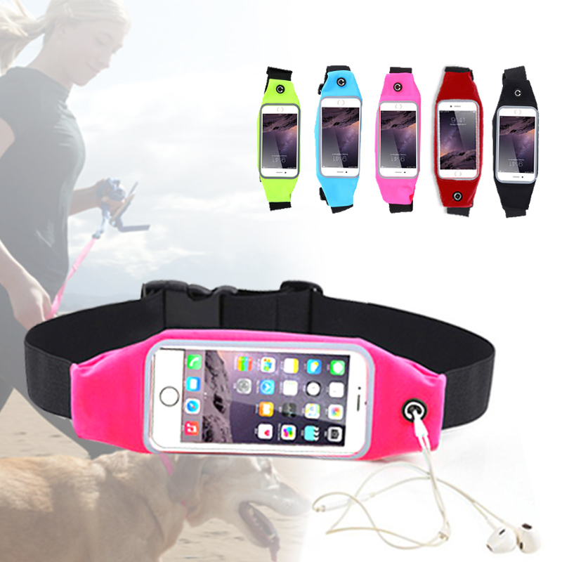 Sport Waist Bag Case Running Cell Phone Belt Pounch Pouch Waterproof Mobile Cover Bag For Huawei P8 P9 lite p7 p6 Y6 honor 8 7(China (Mainland))