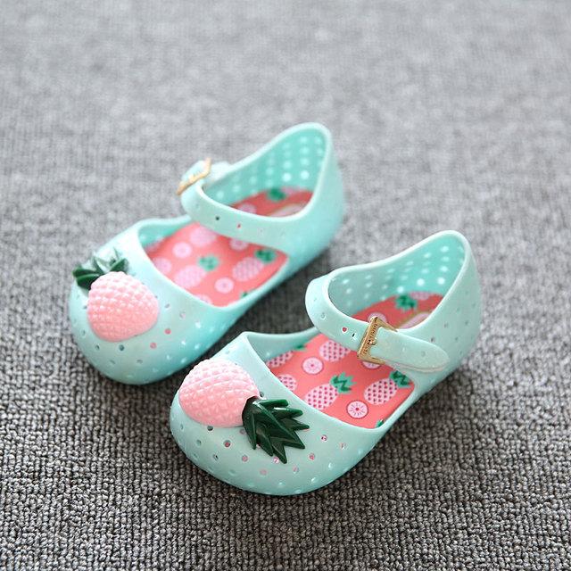 Девочка обувь бренда забавный фрукты дети пляжные сандалии прекрасный ананас одежда ...