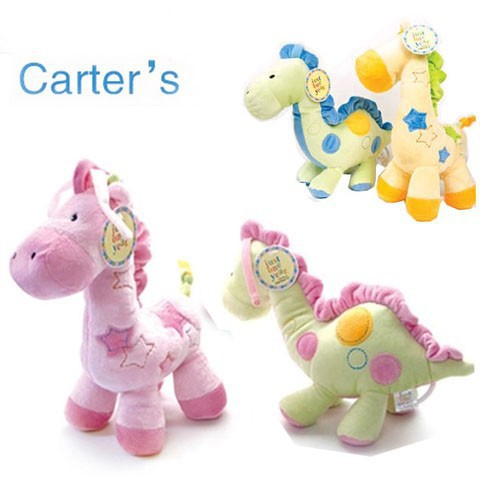1PC/Lot 33CM High Quality Carters Plush Baby Toy W/Music Box Playing His Violin Bed Bell Horse & Giraffe Carter's Toys(China (Mainland))