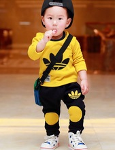 NEW Spring Autumn Leisure long sleeve children  suit set KIDS 2y-6y SportT shirt+kids pants clothing set,2pcs sets free shipping(China (Mainland))