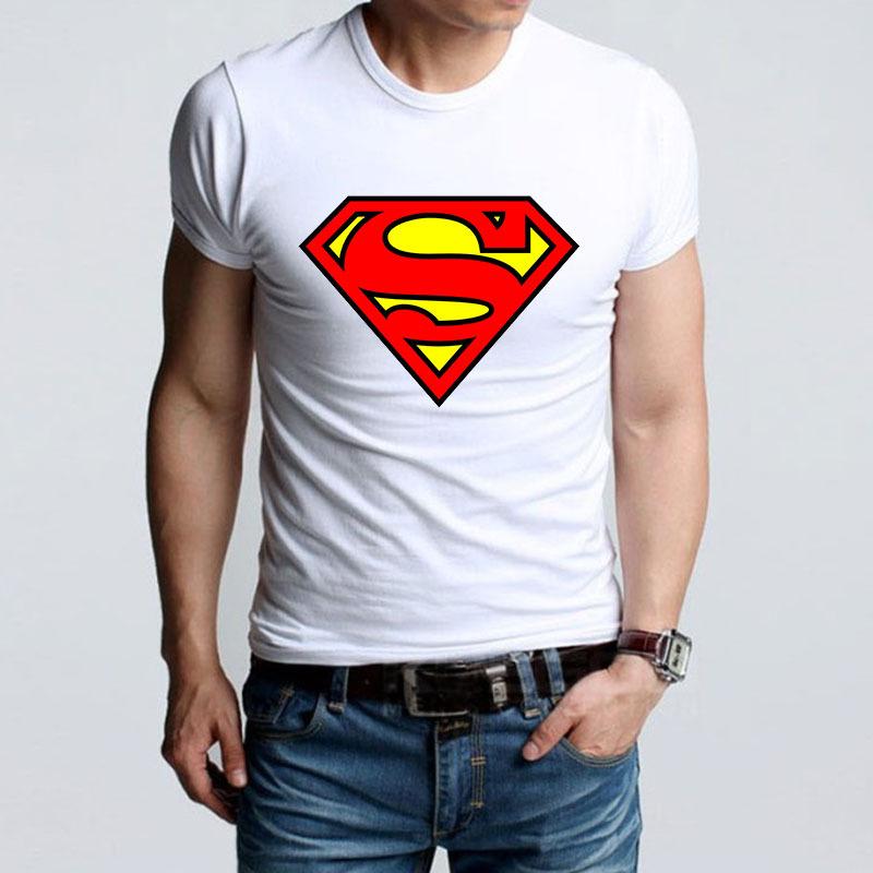 High Quality t shirt Summer Band Super Man Logo Printing TShirts New Cute Style Superman T shirt Men's Tee Shirts(China (Mainland))