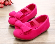 New 2016 girls princess baby shoes casual shoes doug girl single round head bow in the spring and autumn shoes(China (Mainland))
