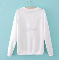 мода стиль женщины дамы Топы рубашки осень женщин длинные рукава сова печать t рубашки 18771 b18