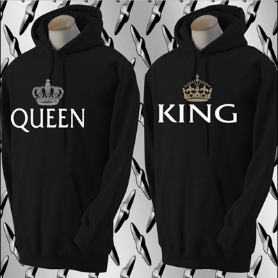 king and queen sweatshirt matching couple hoodies. Black Bedroom Furniture Sets. Home Design Ideas