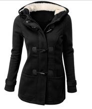Coats Parka Winter Women Anorak Hooded Jacket Casaco Mon Clear Winterjas Camperas Mujer Invierno 2016 Bayan Horn Button Thicken(China (Mainland))