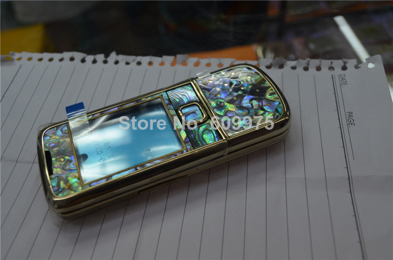 gold Plated Housing bezel Glass Battery Cover abalone cover For Nokia 8800 gold housing(China (Mainland))