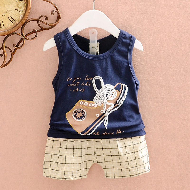 summer style Male child vest set 2015 girl casual twinset children's clothing clothes kids - Lophil Fashion life store