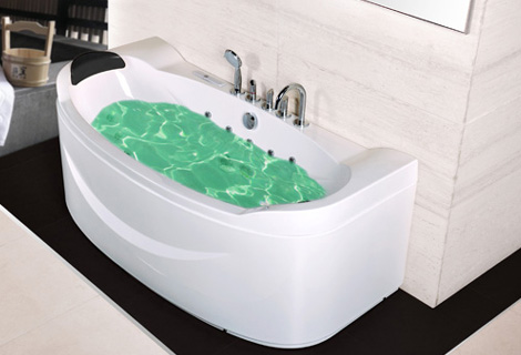 Fiber glass Acrylic whirlpool bathtub Three-side Aprons Hydromassage Tub Nozzles Spary jets spa RS6169D(China (Mainland))
