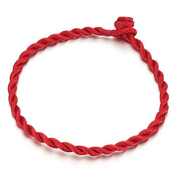 4 Unids Buena Suerte de Hilo Rojo de la Suerte Bangles Pulseras de Cuerda Amistad Hecha A Mano del Cordón de Moda Lucky Kabbalah Pulsera de Regalo de